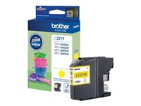 Brother LC221Y - Jaune - originale - cartouche d'encre - pour Brother DCP-J562DW, MFC-J480DW, MFC-J680DW LC221Y