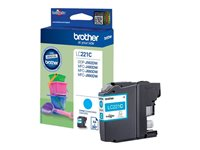 Brother LC221C - Cyan - originale - cartouche d'encre - pour Brother DCP-J562DW, MFC-J480DW, MFC-J680DW LC221C